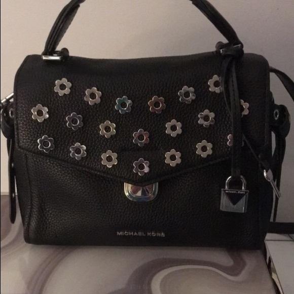 78d6b8b40c4d Michael Kors Bristol Leather Floral Rivet Bag. M_5c0e643eaaa5b85594df5c9a